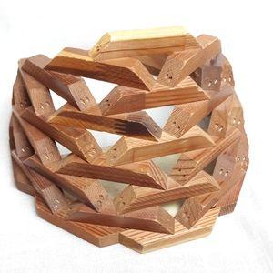 Vintage wooden flower basket wall